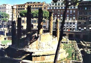 Forum of Caesar, site of Caesar's murder.