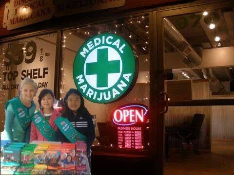 Medical marijuana storefront and girl scouts