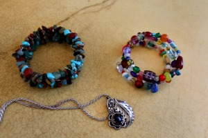Street vendors in Arizona and New York sold me these pieces of jewelry.