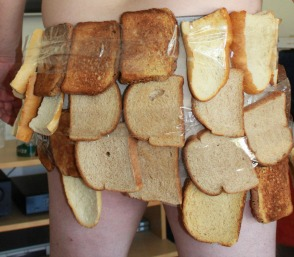Underwear made from toast