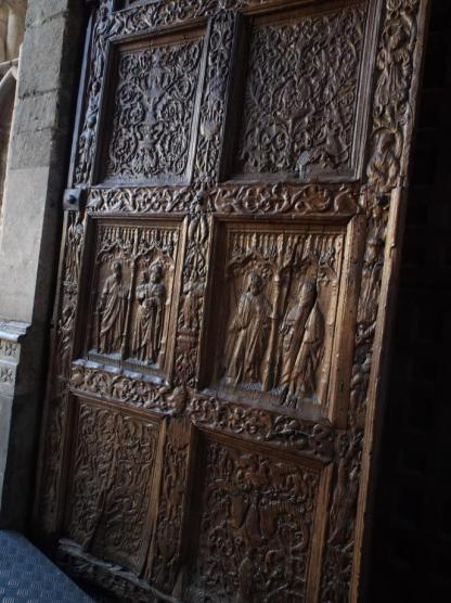 Cathedral doors Leon, Spain