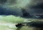 "Historic Painting: ""The Tempest"" by Ivan Aivazovsky, 1886."