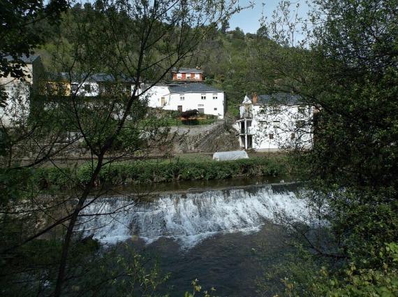 gushing river