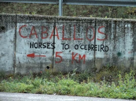 O Cebreiro horseback